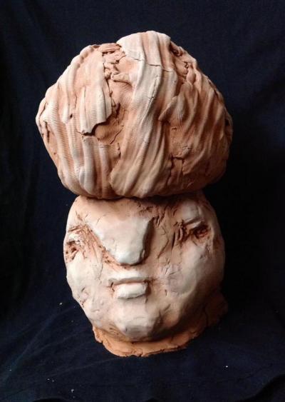 Refugee, 2013, Terracotta, H 25 cm