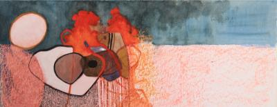 Untitled 66, 2010, Mixed media on paper,  50 x 20 cm