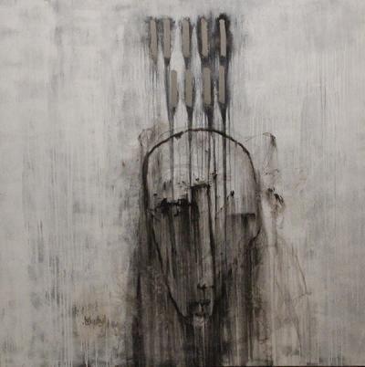Rain on me part1, Acrylic on canvas, 2014, 140x140 cm