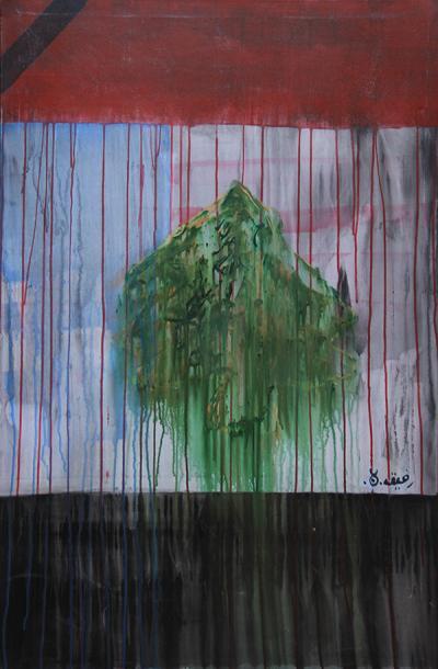 Untitled, 2008, acrylic on canvas, 80x120 cm