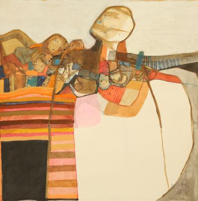 The carpet merchant, 2014, mixed media on paper, 26x35cm