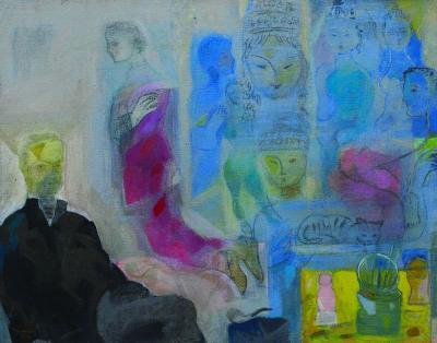 Parisian memories, 2008, acrylic on canvas, 73x92cm.
