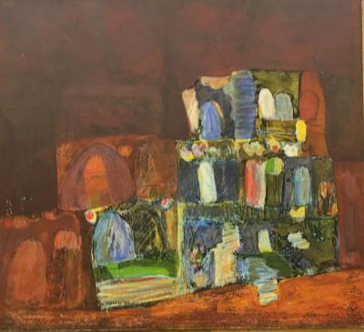 Untitled B19, 1993, Mixed media on paper, 60 x 66 cm