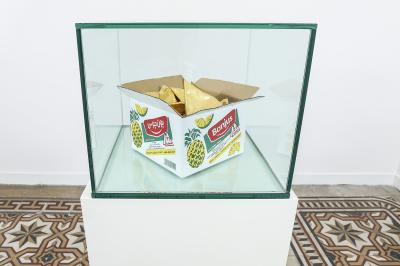 Bon Jus, 2019, Cardboard boxes gilded with 24k Gold leaves, 23 x 23 cm