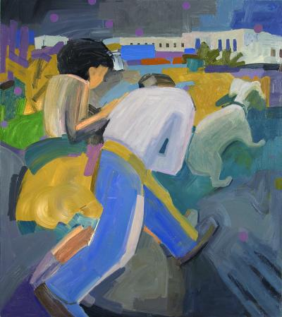 Tango with me, 2012 oil on canvas 132x115 cm