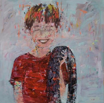 Untitled, 2016, Acrylic on canvas, 150 x 150 cm