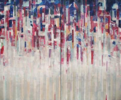 Landscape 3, 2019, Mixed media on canvas, 150 x 180 cm