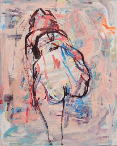 Untitled 41, 2016, acrylic on canvas, 100 x 80 cm