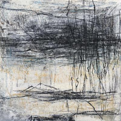 mixed media on canvas, 50x50cm