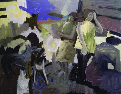 Local News 2008 oil on linen 160x200 cm