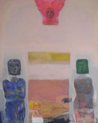 Guardians of your sleep, 2010  acrylic on canvas, 162x 130cm.