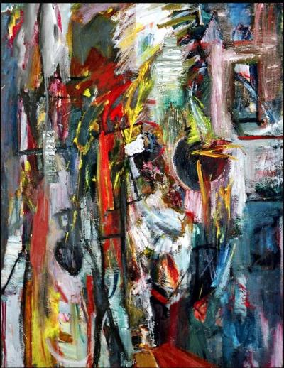 A stroll in the Ally, 1992, oil on canvas, 140cm x110cm