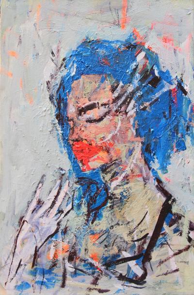 Untitled 38, 2016, acrylic on canvas, 60 x 40 cm