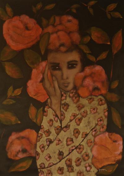 Breathless 1, 2015, acrylic on canvas,175x120cm.