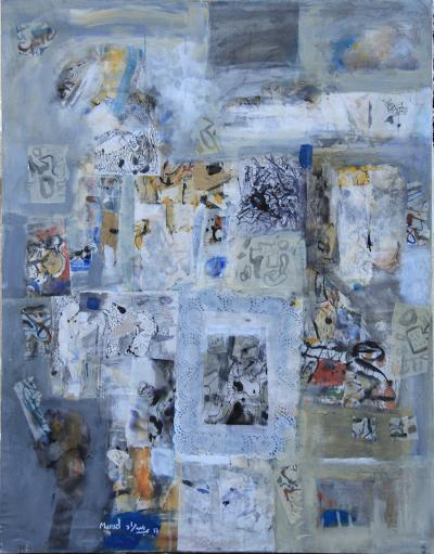 Untitled 4, 2007, mixed media on canvas,  130x104 cm