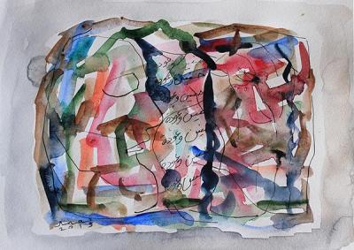 Untitled 8, 2013, Watercolor on cardboard, 38x46.5cm