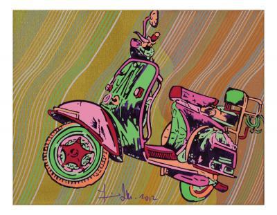 RTU176712, 2012, Acrylic on wood, 34.5 x 45 cm