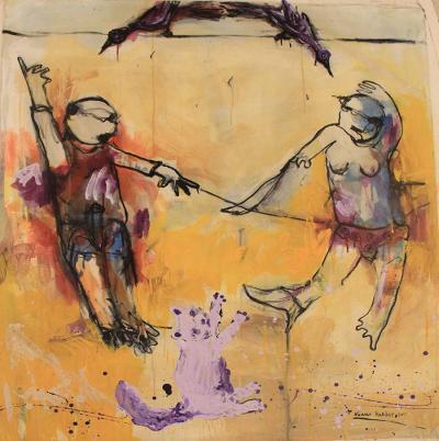Fighting, 2012, acrylic on canvas, 120 x 100 cm