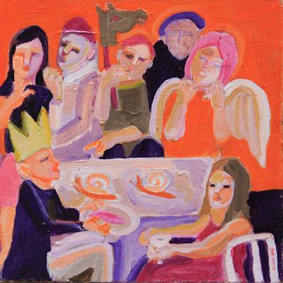 Untitled 28, 2020, acrylic on canvas, 45 x4 5 cm