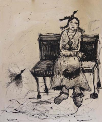 Grandma, Acrylic on Canvas, 120 x 100 cm