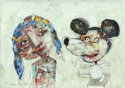 Untitled 56, 2019, Collage on cardboard,31 x 41 cm