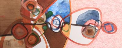 Untitled  69, 2010, mixed media on paper, 50 x 20 cm