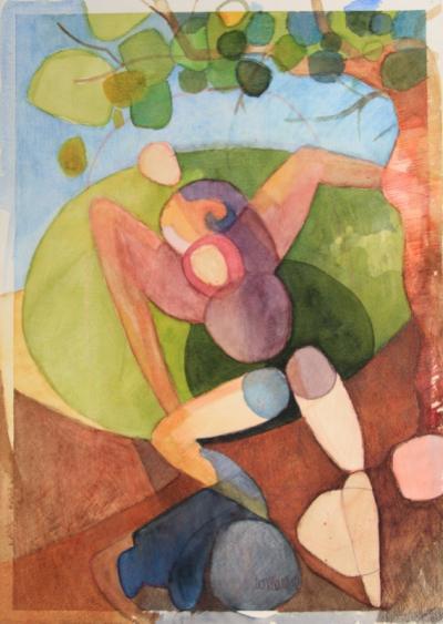 Erotic landscape, 2011, watercolor on cotton paper, 39x28cm