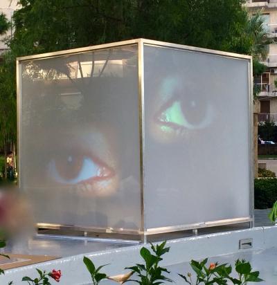 """sHe #9"" video&audio white cube installation 1"