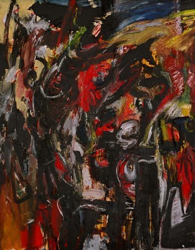A myth of a hero, 1994, oil on canvas, 140cm x110 cm