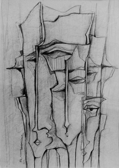 Untitled 20, 2014, graphite on cardboard, 41x29 cm