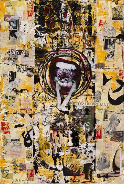 Seduction, 2015, Mixed media & acrylic on canvas, 90x60cm