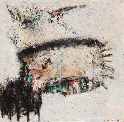 Untitled 81, 2017, acrylic on canvas, 40x 40 cm