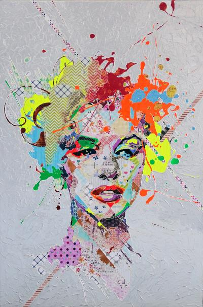 Marilyn Monroe,2016, Mixed Media on canvas, 150x100cm