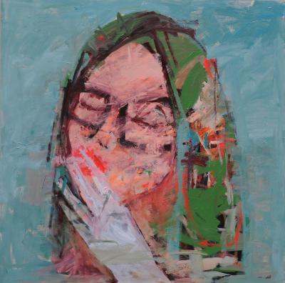 Untitled 9, 2015, Acrylic on canvas, 150x150cm