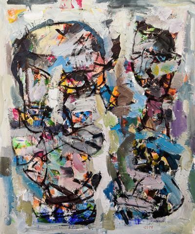Shadows, 2019, acrylic on canvas, 120 x 100 cm