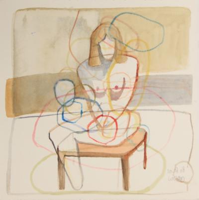 Untitled 12, 2008, aquarell, on paper, 20 x 20 cm