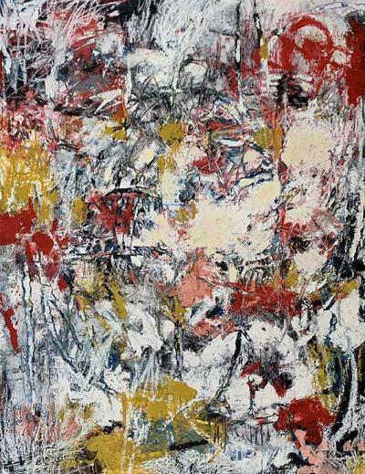 I opened a pomegrannate, mixed media on canvas, 205x154cm