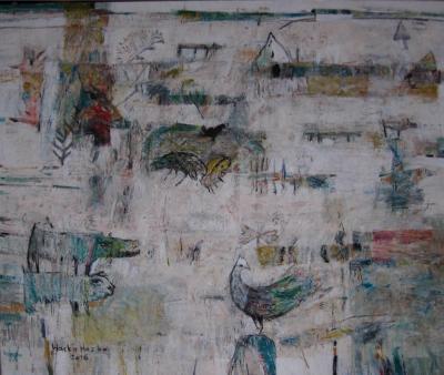 Visitors 3, 2016, acrylic on canvas, 100x120cm
