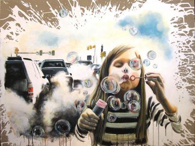 Uncloud, 2016, Acrylic on canvas, 90x120cm