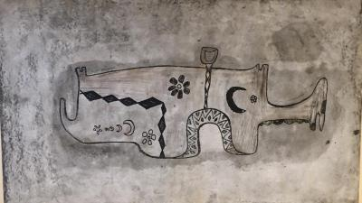 Untitled B11, 1969, Mixed media on paper, 41 x 70 cm