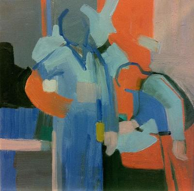 Room Service, 2013 oil on cavas, 40x40 cm