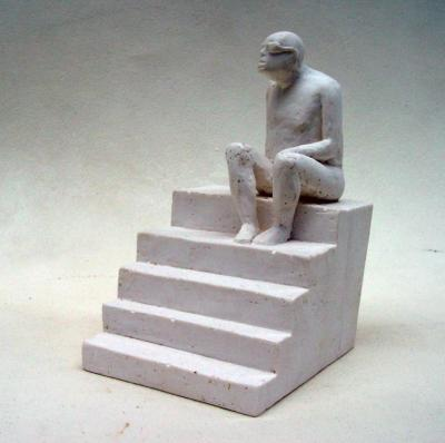 Lonely man, 2016, Resin, 13x8x8.5 cm