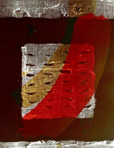 Gauze III, 2014, Monotype & lithography on cotton paper, 70x50cm