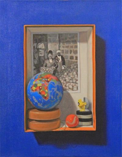Memory box 1, 2016, Oil on canvas, 45x35cm