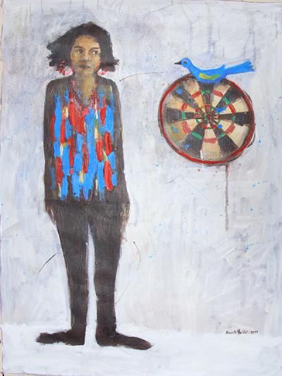 untitled 6, 2014, acrylic on canvas, 100x70cm