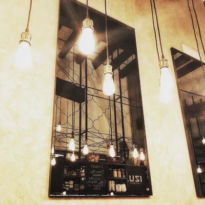 Floor Mirror, Black Steel, Oriental, black steel, 207x108 cm