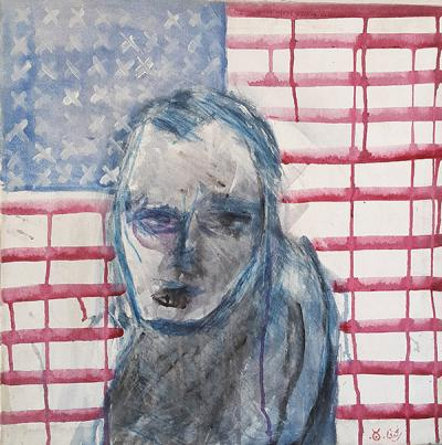 Untitled, 2003, Acrylic on canvas, 52x52cm