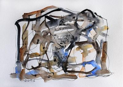 Untitled 6, 2013, Watercolor on cardboard, 38x46.5cm