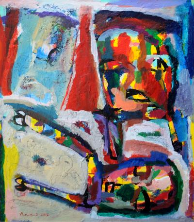 there are always victims, 2012, mixed media on canvas, 80x70cm