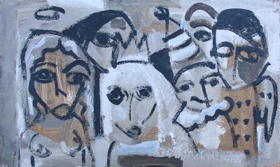 Untitled 35, acrylic on canvas, 90x90cm
